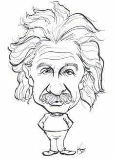 Celebrity Caricature Gallery of Albert Einstein - About Faces Entertainment