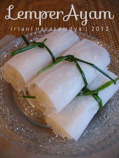 Lemper Ayam (Indonesian Food)