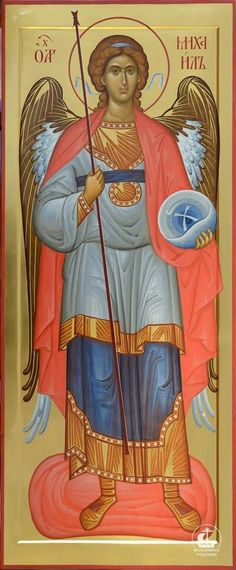The Holy Archangel Michael. Religious Images, Religious Icons, Religious Art, Byzantine Art, Byzantine Icons, Angel Protection, Male Angels, Casual Art, Christian World