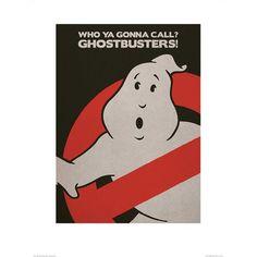 'Ghostbusters - Logo' Vintage Advertisement Art Group Size: 80cm H x 60cm W, Mount Colour: No Mount, Format: Paper