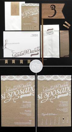 Wedding invitations by cut