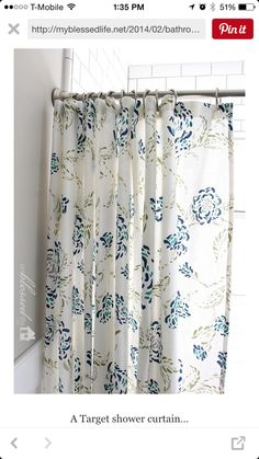 Navy Blue Toile Shower Curtain   Gone Are The Days When People Only Used To  Hang Shower Curtains On Some Metals Wood Rods.