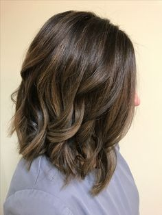 Dark brown dimensional balayage