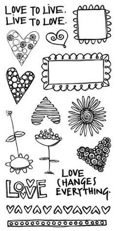 Live to Love - Original Art Stamps by Rebecca Sower  crescendoh.com