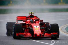 Kimi Raikkonen, FP3, Melbourne (wet)