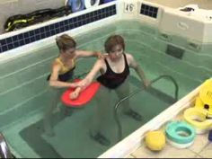 Stroke from Car Crash Rehabilitation in HydroWorx Physical Therapy Pool - YouTube