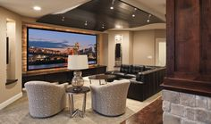 Amazing home theater system from Hanson Audio Video. #housetrends http://www.housetrends.com/specialist/Hanson-Audio-and-Video
