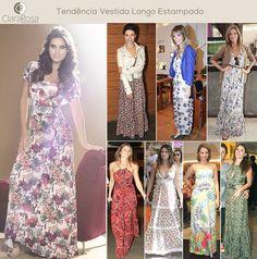 Bom dia! Veja a tendência do vestido longo estampado e inspire-se!