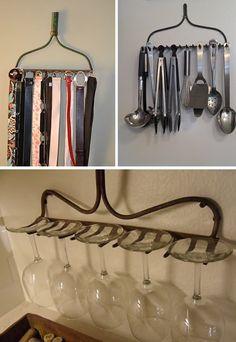 rakes as hangers