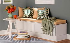 Built-in Bench Seat from Stock Cabinets