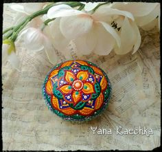 Check out this item in my Etsy shop https://www.etsy.com/listing/492079087/hand-painted-mandala-stone-magical
