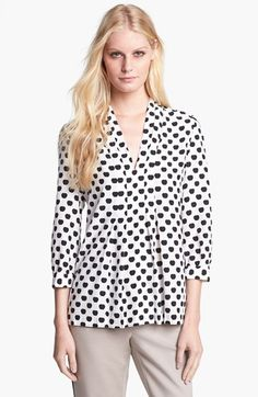 kate spade new york 'elenore' silk blend blouse available at #Nordstrom