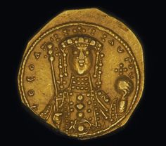 Women in gold: Powerful empresses on Byzantium coins . By Emily Pearce. Empress Theodora, Solidus coin, Constantinople, 1055 -1056