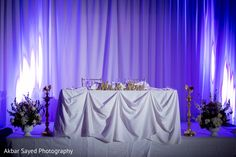 Table for indian couple at wedding reception http://www.maharaniweddings.com/gallery/photo/97466