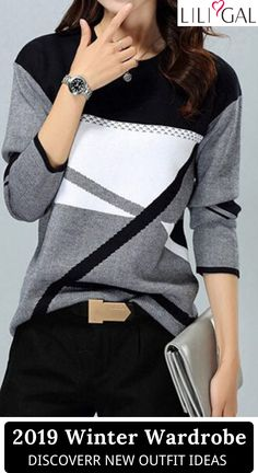 Free Shipping & Easy Return. Liligal cute tops, long sleeve t shirts, cozy sweaters cardigans, comfy fall winter outfits for women, down to $USD28, shop now~ #liligal #womensfashion #tshirt #cardigan #sweater