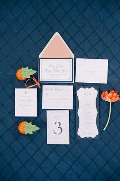 Orange and Navy Blue Citrus Winter Wedding - http://fabyoubliss.com/2015/02/02/orange-and-navy-blue-citrus-winter-wedding