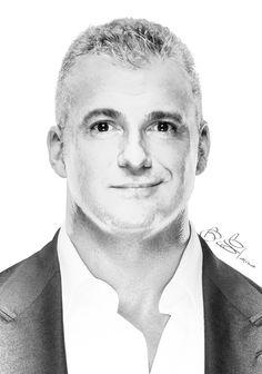 "( WWE CELEBRITY MAN 2016 ★ SHANE McMAHON "" WWE Shane McMahon Pencil by edaba7.deviantart.com on @DeviantArt "" ) ★ Shane Brandon McMahon - Thursday, January 15, 1970 - 6' 2"" - Gaithersburg, Maryland, USA."