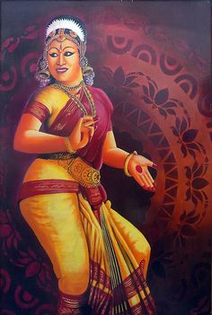 Famous Dance Bharathanatyam Version 2 by Asp Arts Dance Paintings, Buddha Art, Indian Art, Art Images, Disney Characters, Fictional Characters, Dancer, Wonder Woman, Superhero