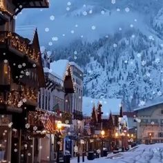 Let it snow let it snow Location Leavenworth Washington Merry Christmas Gif, Merry Christmas Pictures, Christmas Scenery, Christmas In Europe, Christmas Town, Christmas Background, Christmas Music, Christmas Wallpaper, Christmas Wishes