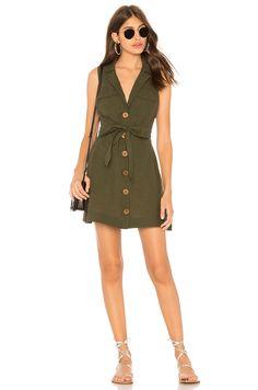 Free People Hepburn Dress in Moss