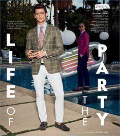 Models Garrett Neff and Paolo Roldan wears ISAIA.