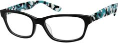 Women's Black 6085 Acetate Full-Rim Frame | Zenni Optical Glasses-xTT6iwxf