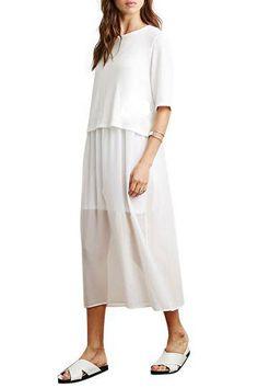 Chiffon Splicing Short Sleeve Dress - US$23.95 -YOINS