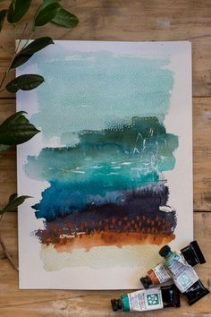 Watercolor Paintings Abstract, Watercolor And Ink, Art Paintings, Indian Paintings, Simple Watercolor, Portrait Paintings, Watercolor Artists, Acrylic Paintings, Watercolour Pencil Art