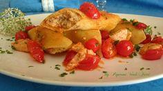 I pennoni ripieni con ricotta melanzana e pesce spada e' un piatto delicato e gustoso che esprime al massimo l'ottimo e classico abbinamento tra la pasta ep