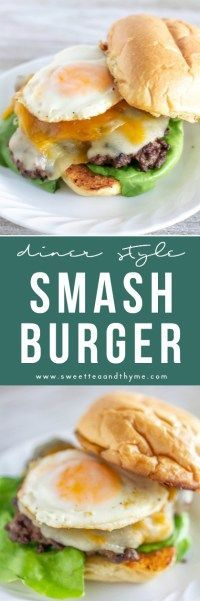 These smash burgers, with crispy crusts and juicy beef, are fast, easy, and super simple with minimal ingredients but maximum flavor. #smashburger #burger #summer