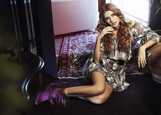 Don't Call Me Baby Campaign, Short boho dress. Inspiration Florence Welch