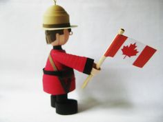 Canadian Mountie ornament in paper quilling by fashionedforyouinnh