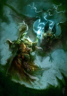 Goblin Druid by Julien Carrasco on ArtStation #арт #иллюстрации #фэнтези
