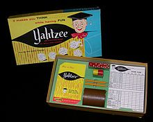 Yahtzee ... hours and hours spent playing this during childhood.  Had this set until we lost it in a basement flood.