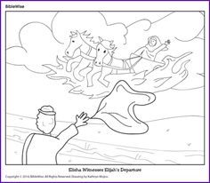 Enjoy Coloring This Picture Of Elisha Witnesses Elijahs Departure And The Chariot Fire