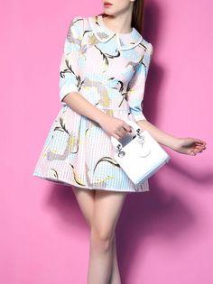 Jacquard Printed Mini Dress
