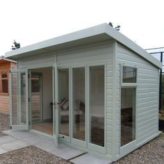 A modern light and spacious garden room. Featuring stylish, glass to ground double glazed windows as standard, making it ideal for use as a summerhouse or garden office.
