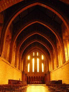 Quarr Abbey ~ where the god-like genius, Scott Walker, studied Gregorian Chant (allegedly).