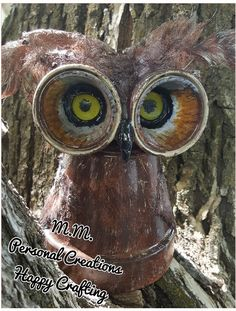 My terra cotta flower pot owl finished. 1of4