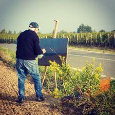 """Le nostre vigne sono opere d'arte"" #quadro #pittura #arte #vigna #vineyard #Gavi972 #grandebiancopiemontese #piedmontwines #vino #piemonte"