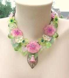 Swarovski Spring Statement Hibiscus Flower Bridal by ShambleRamble, $120.00