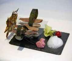 Plato Rectangular #platos #pizarra #ardoise #slate #decoración #deco #cuisine #interior #food #kitchen #entrantes