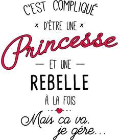 personnaliser tee shirt princesse et rebelle