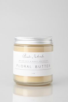 Looks delicious- Beridan Naturals Floral Butter. Skincare Packaging, Soap Packaging, Beauty Packaging, Cosmetic Packaging, Brand Packaging, Clean Beauty, Diy Beauty, Mademoiselle Bio, Home Spray