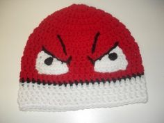 crochet pokemon hat | ... and White Angry Ball Crochet Hat (voltorb, pokemon) review at Kaboodle