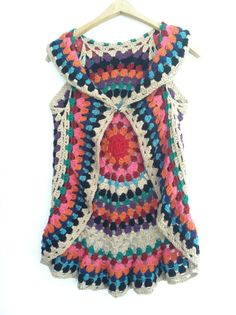Crochet PATTERN for Women's Mandala Vest on Etsy, $6.00