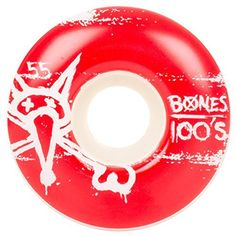 Bones Wheels 100's #9 Skateboard Wheels: BONES Formula Designed by professional skaters. Made in the USA All Skate One Corporation products…