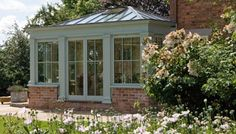 Traditional style conservatory from Vale Garden Houses >>… Orangery Conservatory, Orangery Extension, Sunroom Windows, Sunroom Addition, Glass House, Beautiful Buildings, Architecture Details, Great Rooms, My Dream Home