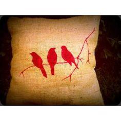 almohadones de arpillera - Buscar con Google