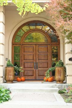 This Mediterranean inspired entry is impressive but welcoming.